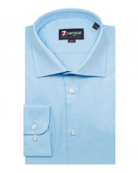Shirt Firenze Honeycomb fabric Turquoise