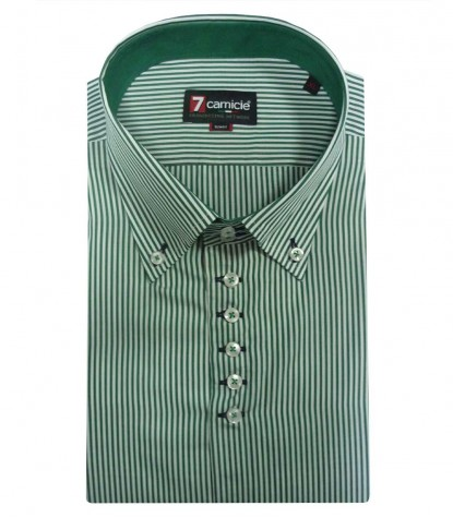 Shirt Roma Poplin WhiteLight Green
