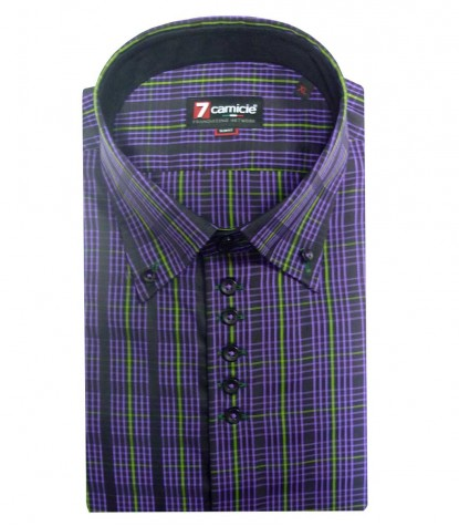 Shirt Roma Poplin BlackViolet