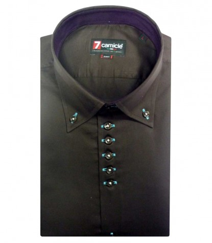 Shirt Roma Satin Brown