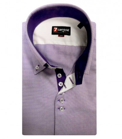 Shirt Roma Satin WhiteViolet