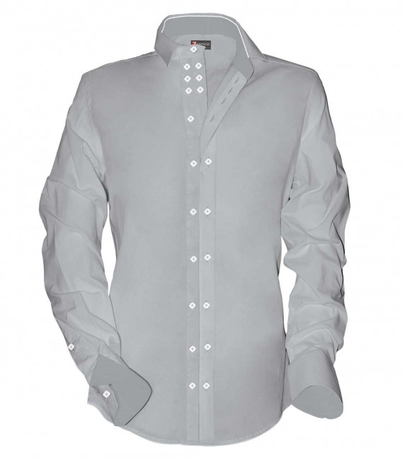 Shirt Raffaello Satin Light Grey