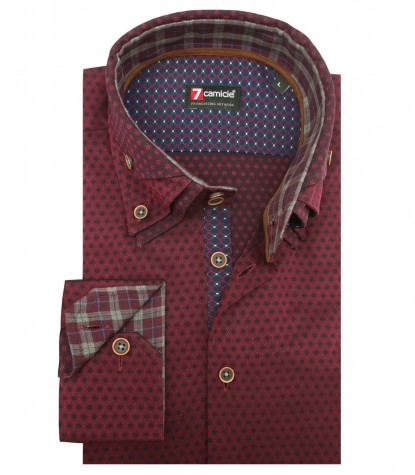 Shirt Vesuvio jacquard BordeauxBlue