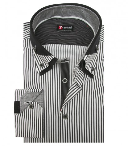 Shirt Vesuvio Satin WhiteBlack