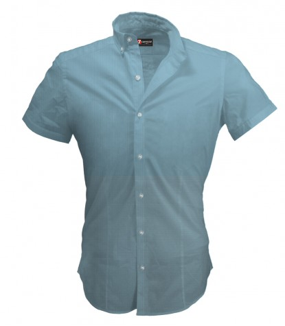 Shirt Leonardo Cotton Melange Light Blue
