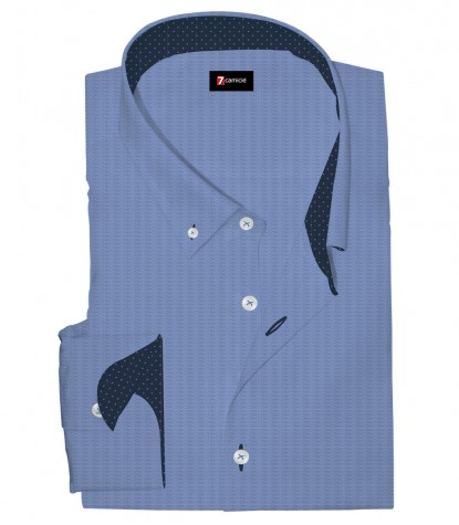 Shirt Leonardo Cotton Bluette