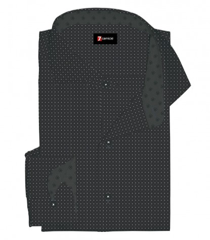 Shirt Firenze Cotton BlackDark Grey