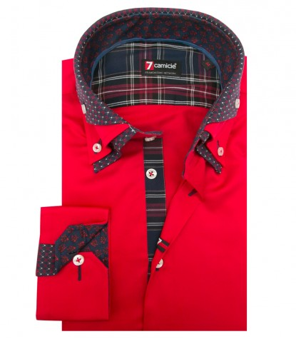 Shirt Vesuvio Satin Red