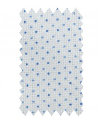 Shirt Linda Honeycomb fabric WhiteBlue