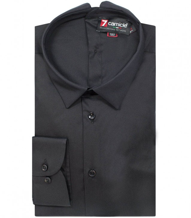Double buttoning shirt Romeo black