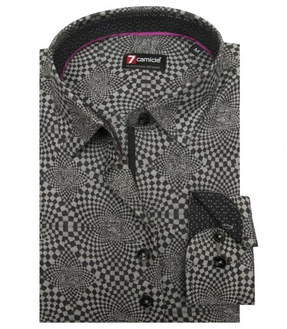 Shirt Linda jacquard Middle Shade GreyDark Grey