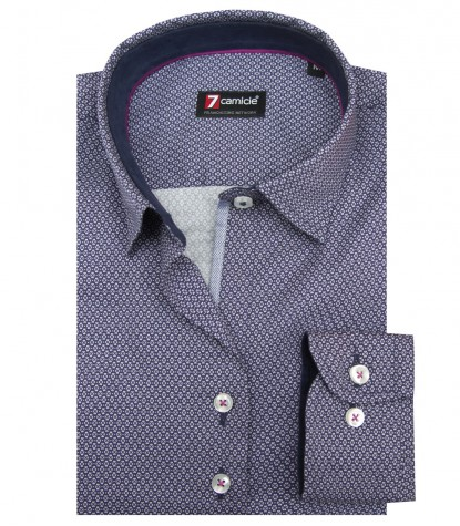 Camicia Linda Super oxford BluBianco