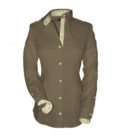 Shirt Giulietta stretch poplin Dove Brown
