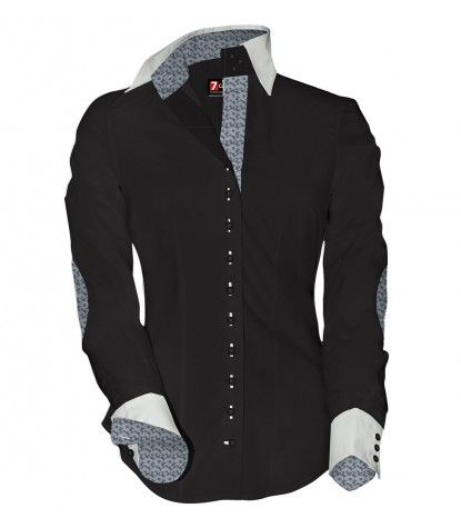 Shirt Beatrice stretch poplin Black