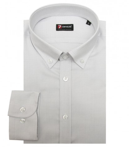 Shirt Leonardo twill WhiteLight Grey