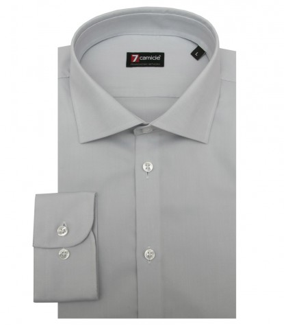 Chemises Firenze Oxford gris
