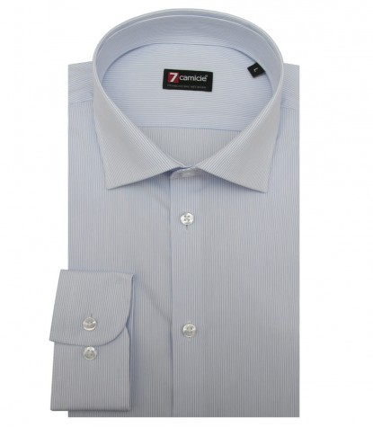 Shirt Firenze Poplin WhiteLite Blue