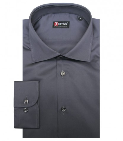 Shirt Firenze Satin Dark Grey