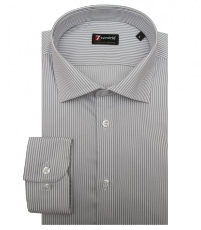 Shirt Firenze twill WhiteLight Grey
