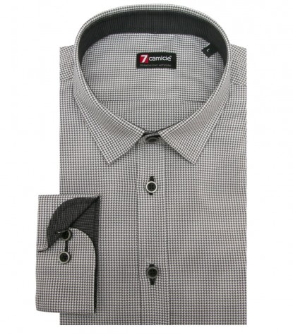 Shirt Romeo jacquard Medium greyLight Grey