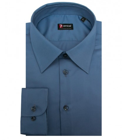 Shirt Romeo Satin Blue Avion