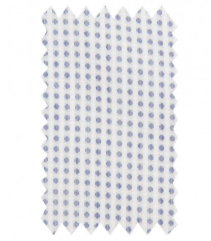 Shirt Roma jacquard White and Blue