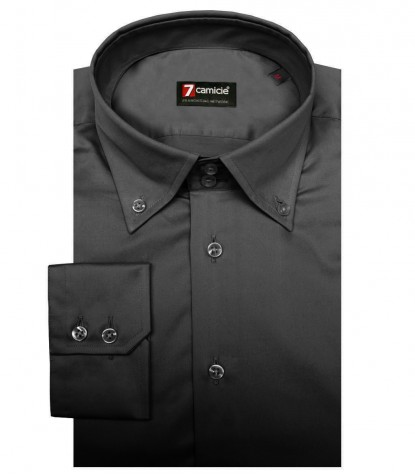 Shirt Roma Satin Dark Grey