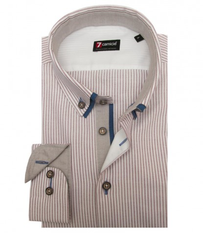 Shirt Leonardo Oxford WhiteBrown