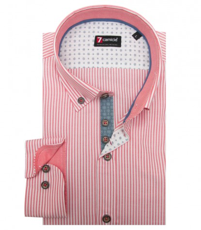 Shirt Leonardo Oxford White and Orange