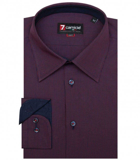 Shirt Romeo Poplin BlueRed
