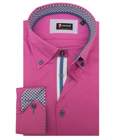 Shirt Roma stretch poplin Orchid