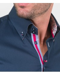Shirt Roma stretch poplin Dark Blue