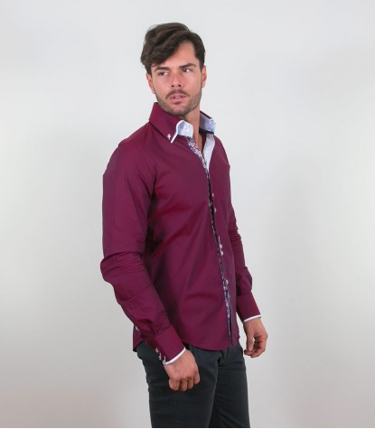 Shirt Colosseo Cotton Bordeaux