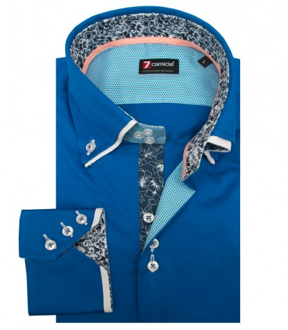 Shirt Colosseo Satin Sky Blue