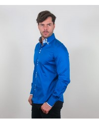 Camicia Colosseo Satin Sky Blue