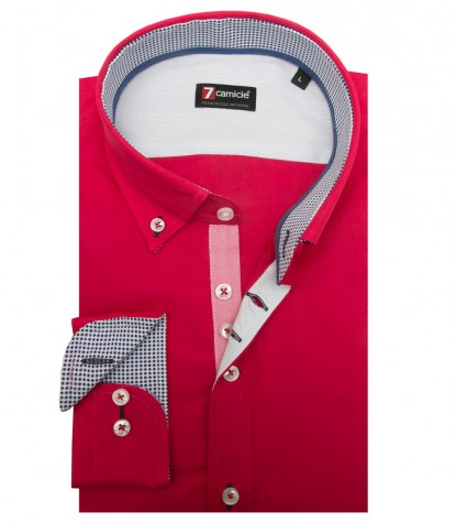 Shirt Leonardo stretch poplin Persia Red