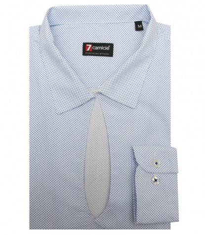 Shirt Sofia Cotton WhiteLite Blue