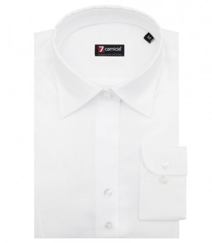 Shirt Linda stretch poplin White