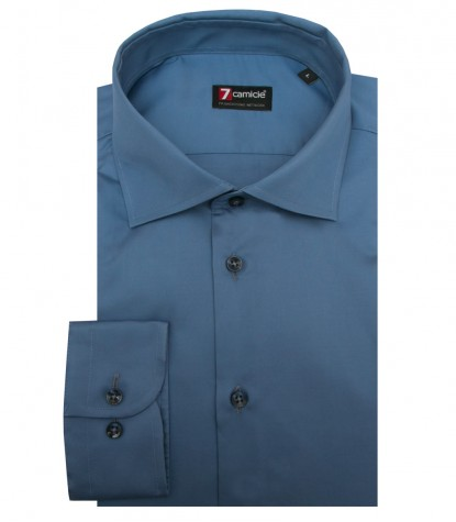 Shirt Firenze Satin Blue Avion