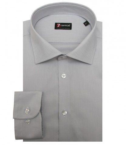 Shirt Firenze twill Dark Grey