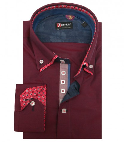 Shirt Marco Polo Cotton Bordeaux