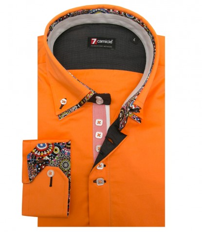 Shirt Marco Polo Satin Light Orange