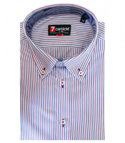 Shirt Romeo Poplin WhiteRed