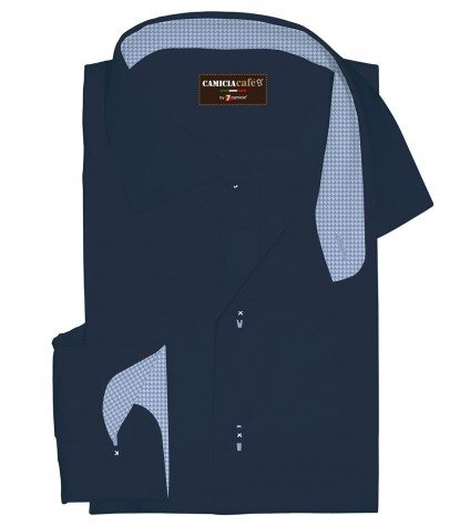 Shirt Firenze Cotton Polyester Blu