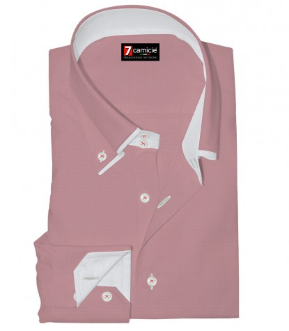 Shirt Marco Polo Super oxford Light Red