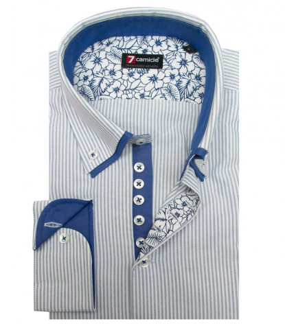 Chemises Donatello Oxford BlancBleu