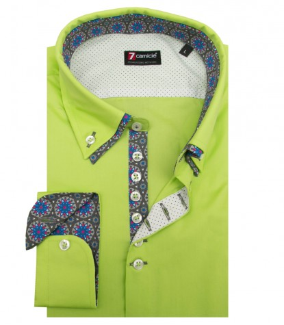 Camisas Donatello popelina stretch verde
