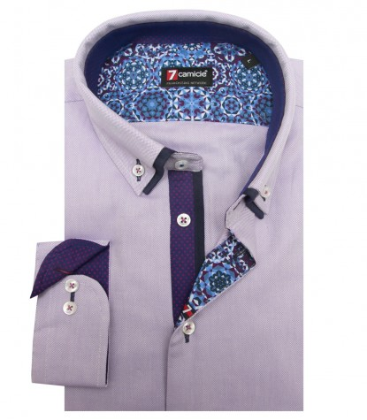 Shirt Leonardo Oxford Lilac