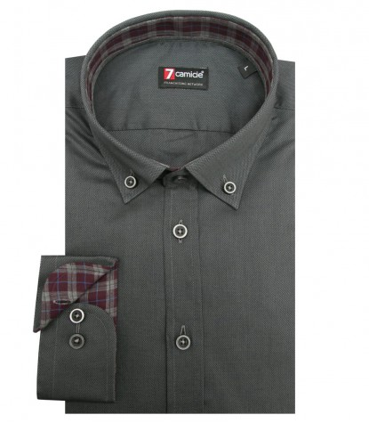 Shirt Leonardo Weaved Dark GreyBlack