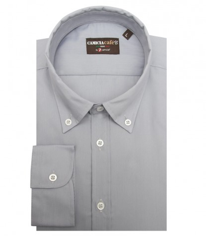 Shirt Leonardo Cotton Polyester Light Grey